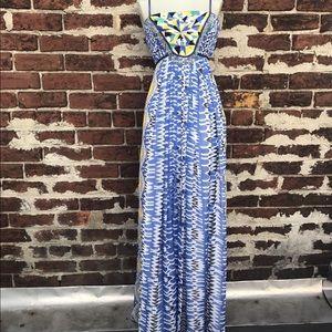 Anthropologie Ranna Gill Sunburst Maxi Dress Sz M